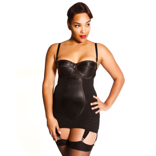 Glamour Zip Underbust  Girdle  black